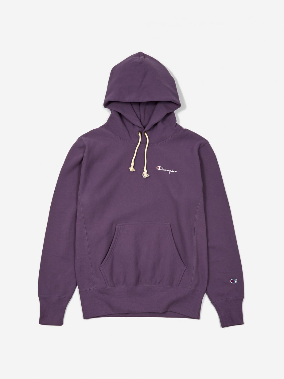 Champion Champion Reverse Weave Small Script Hooded Sweatshirt - Purple - Purple