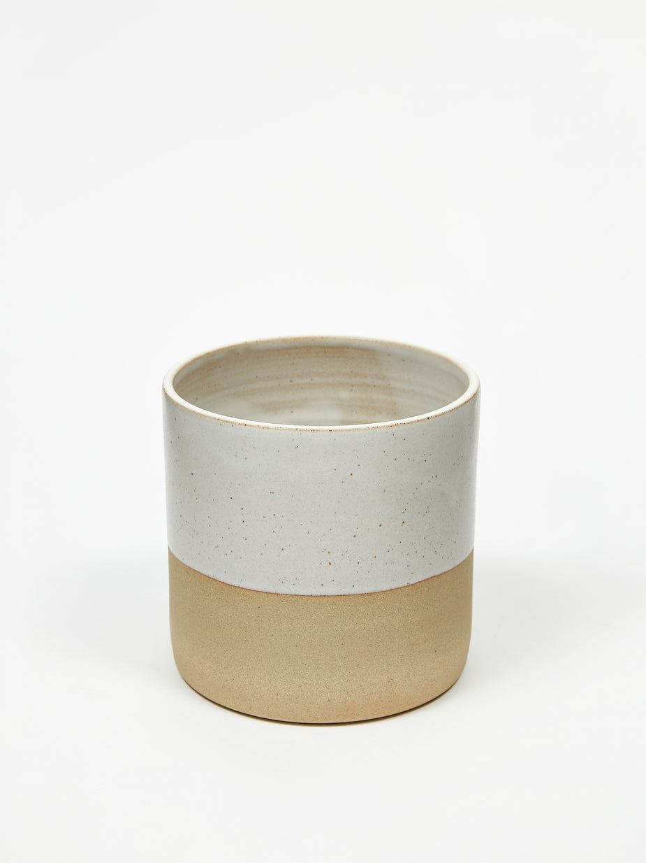 Charlotte Miller Charlotte Miller Medium Half Glazed Stoneware Planter - Other