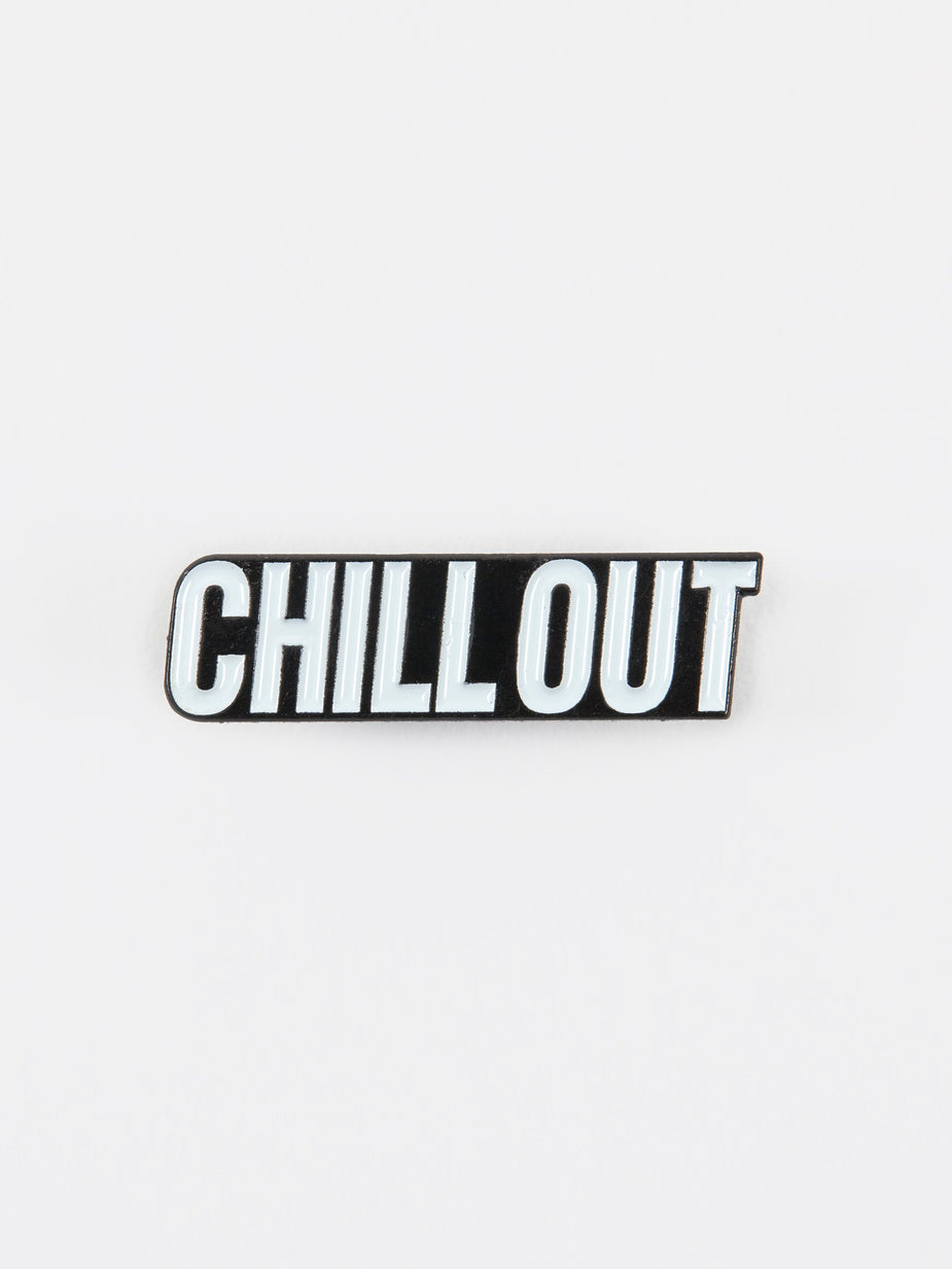Chill Out Chill Out Enamel Pin - White - White