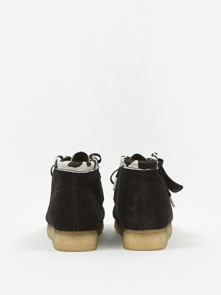 Clarks Clarks Wallabee Boot - Black Cow Print - Black