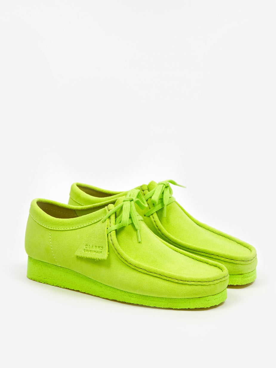 Clarks Originals Clarks Wallabee - Lime Suede - Green