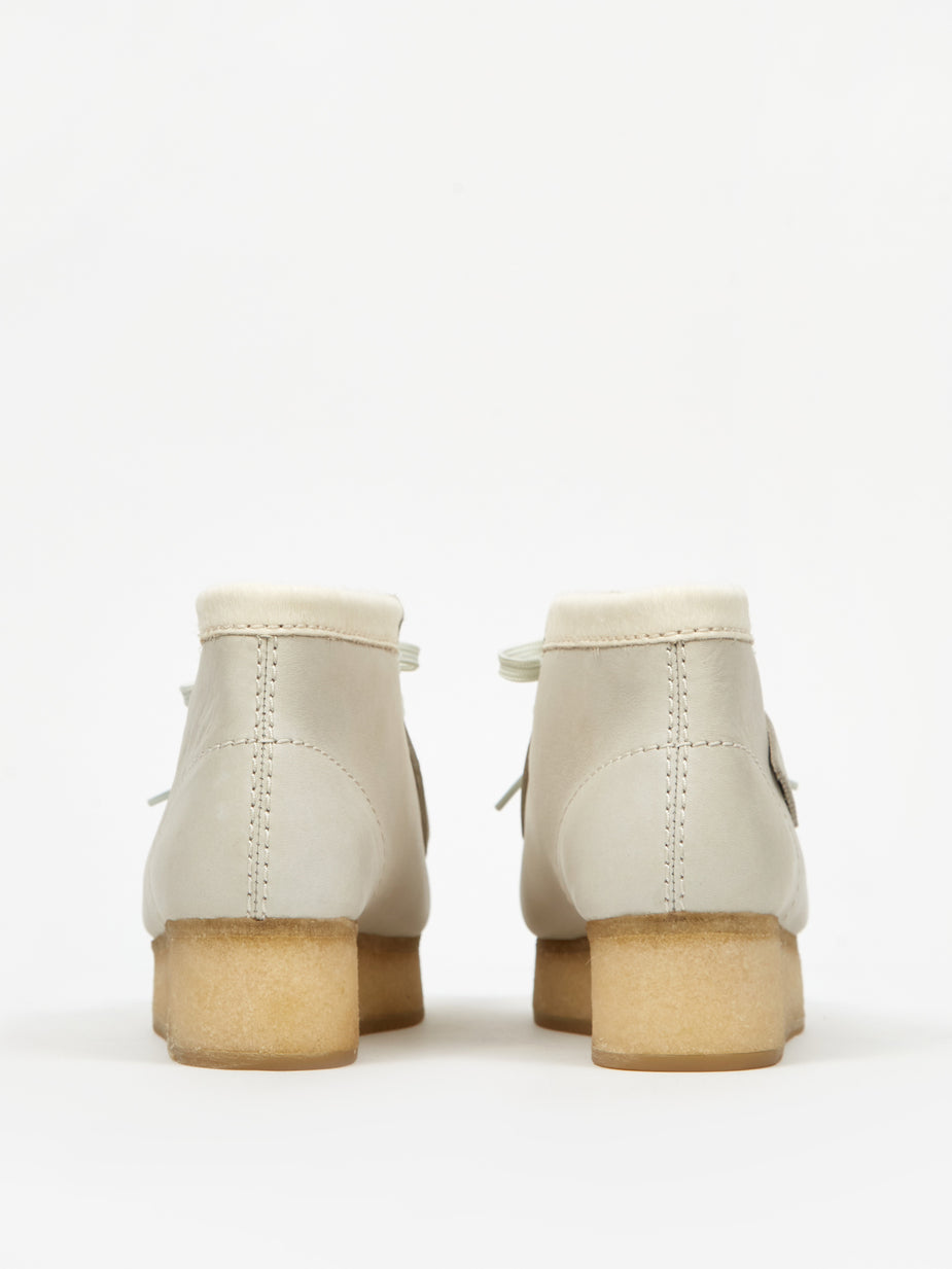 Clarks Clarks Wallabee Wedge - White Combi - White