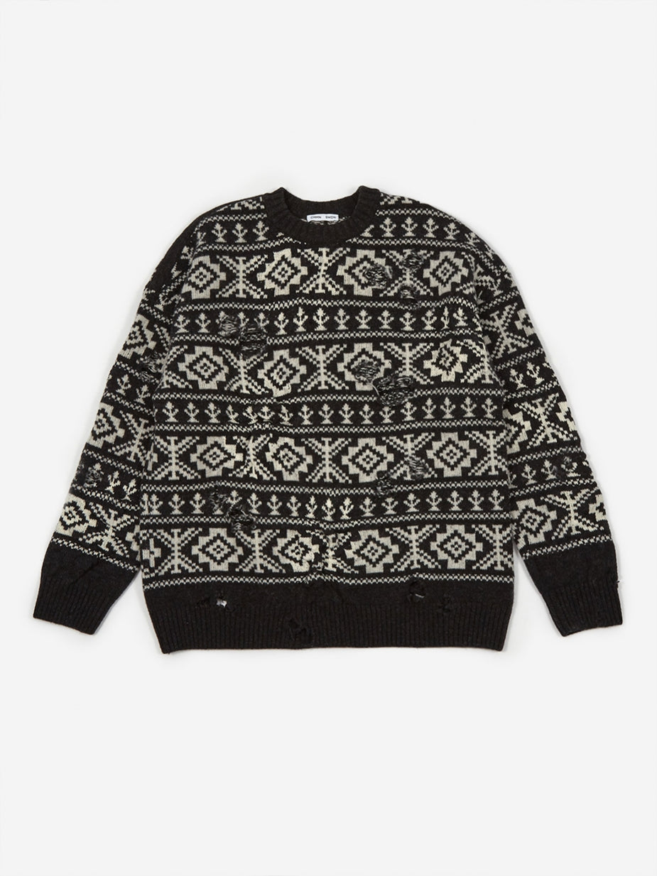 CMMN SWDN CMMN SWDN Theis Relaxed Fit Jumper - Fairisle