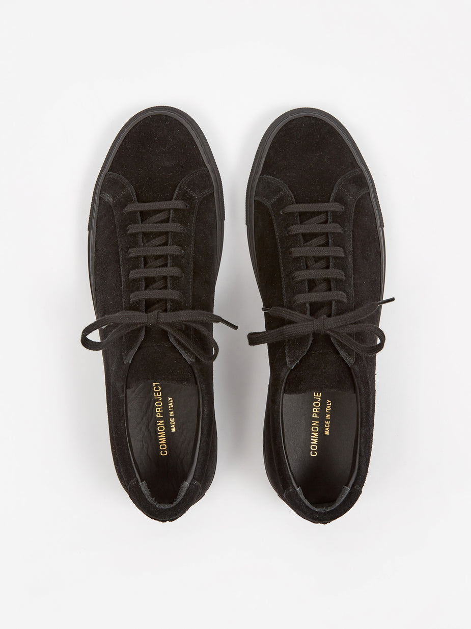 Common Projects Common Projects Achilles Low Suede - Black/Black - Black