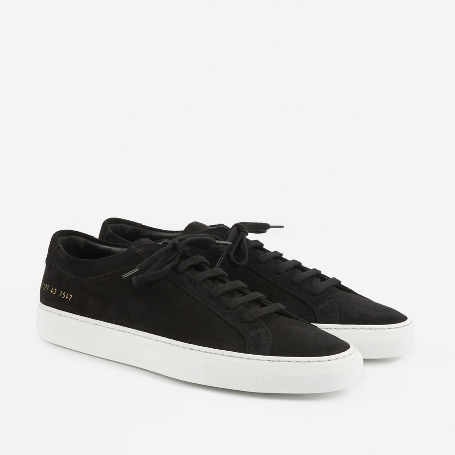 Common Projects Common Projects Achilles Low Suede - Black - Black