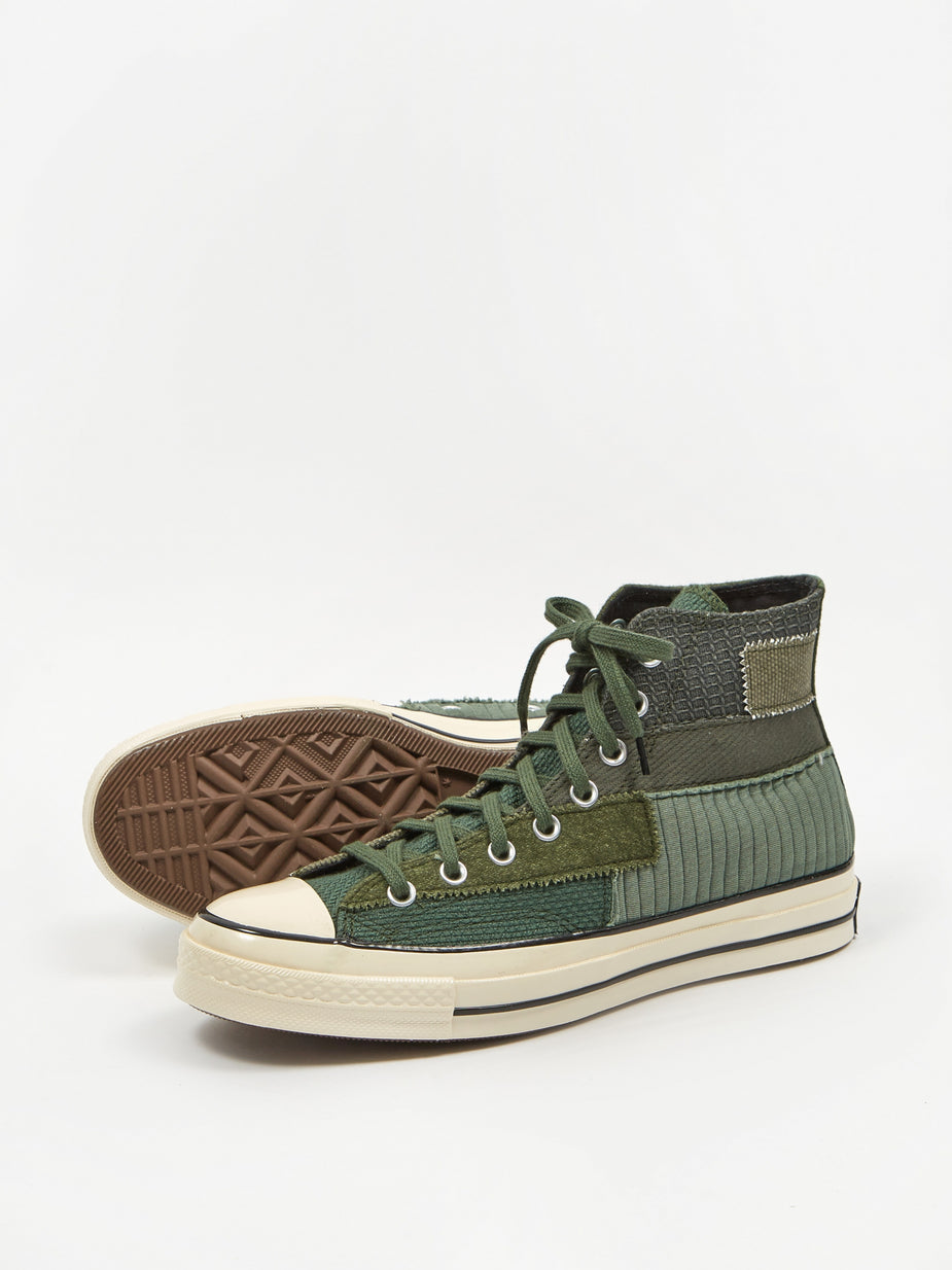 Converse Converse Chuck Taylor 70 Pinnacle Patchwork Hi - Black Forest/Egret/Black - Black