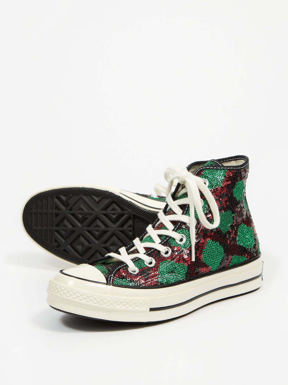 Converse Converse Snake Sequin Chuck 70 Hi - Red/Green/Egret - Red