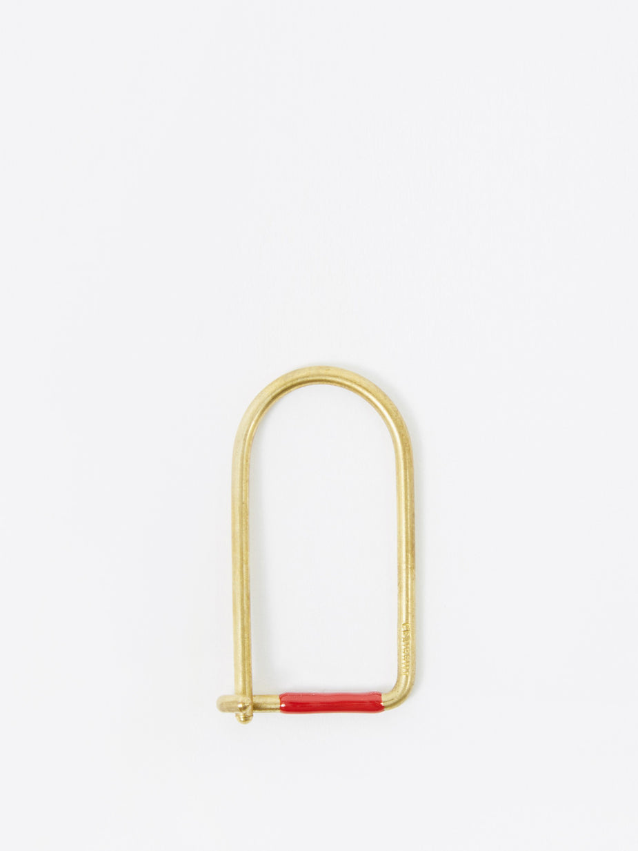 Craighill Craighill Wilson Brass Enamelled Keyring - Red - Red