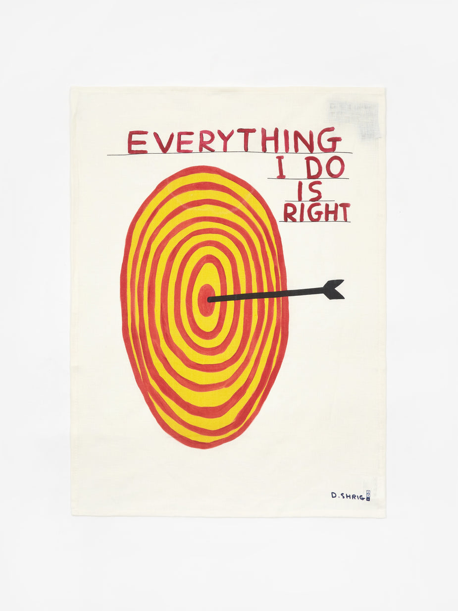 David Shrigley David Shrigley Everything I Do is Right Tea Towel - Other