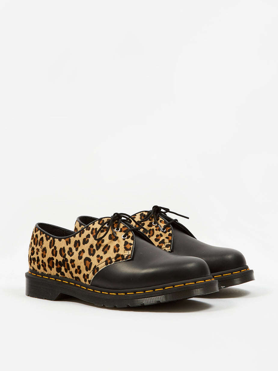 Dr. Martens Dr. Martens 1461 - Black Polished Smooth/Leopard - Black