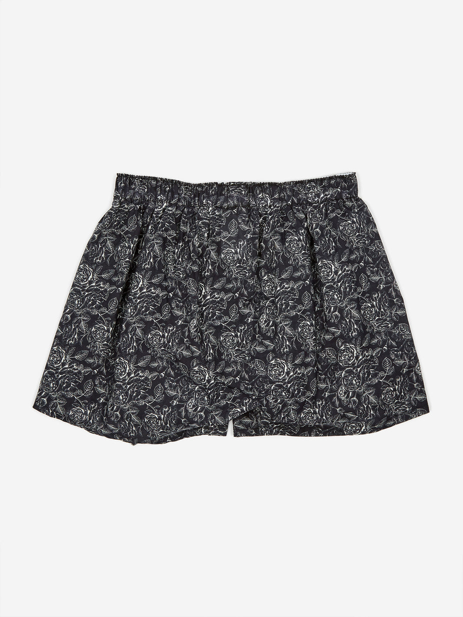 Druthers. Druthers One Colour Rose Boxer - Black - Black