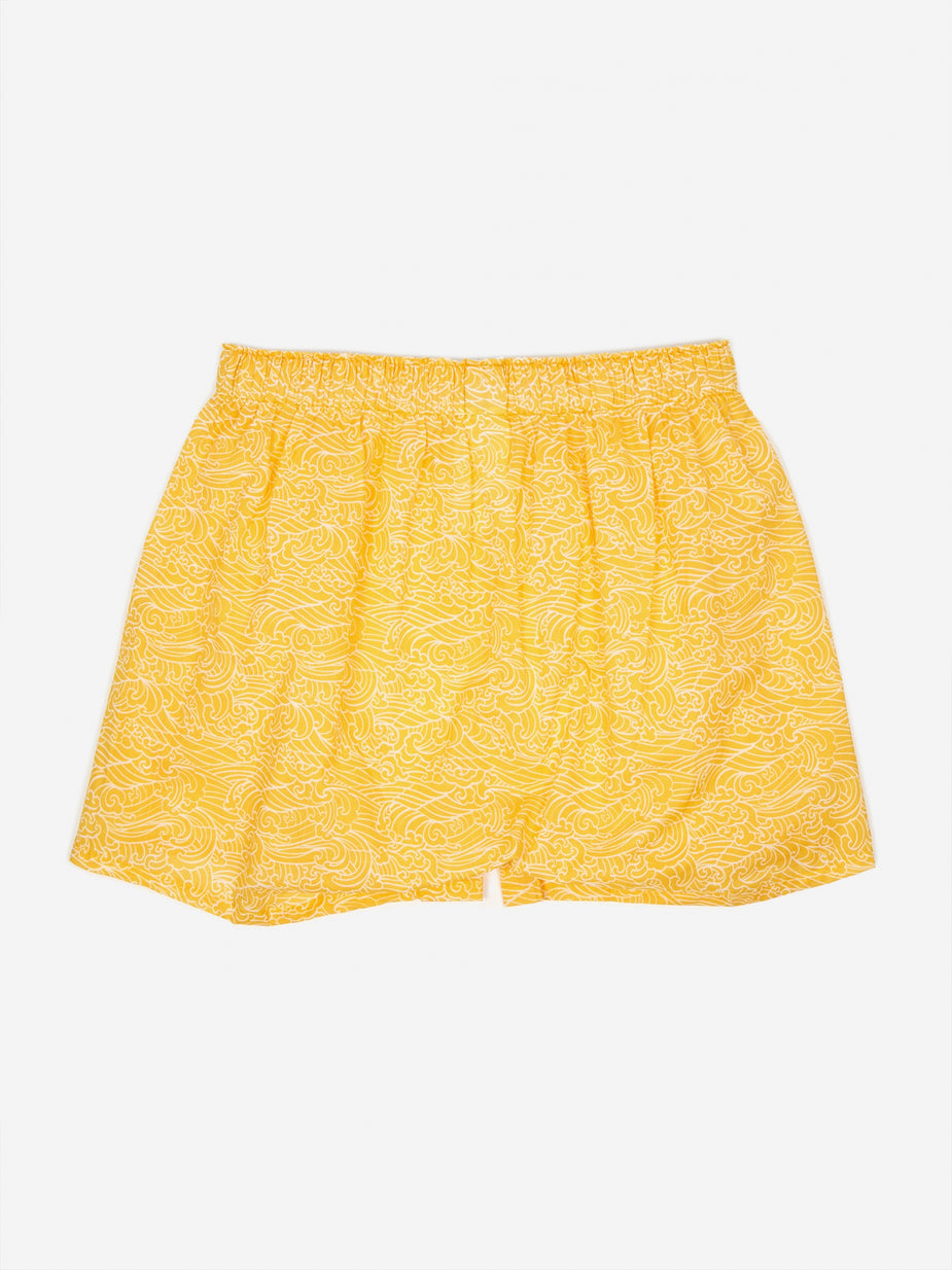 Druthers. Druthers Waves Boxer - Mustard - Yellow