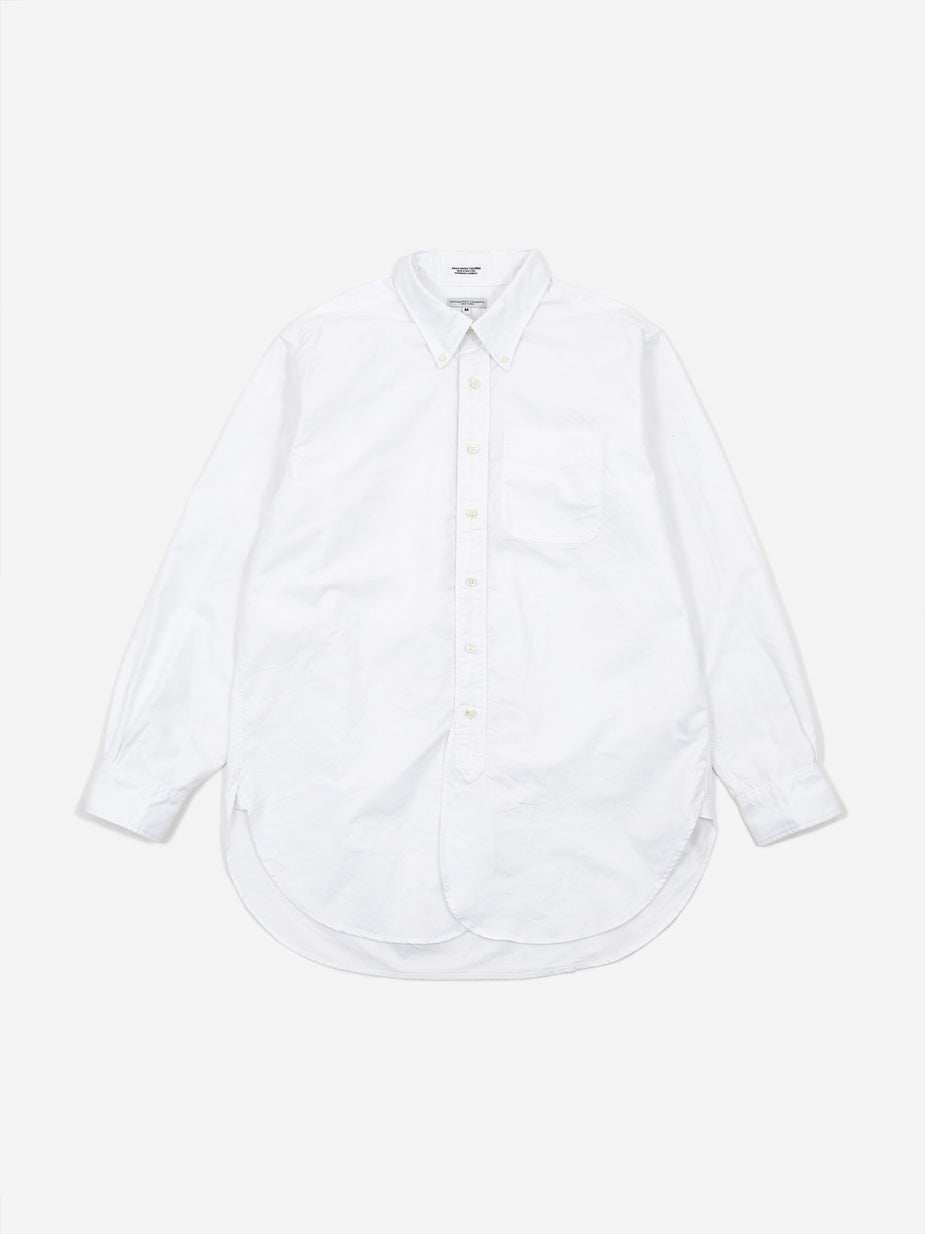 Engineered Garments Engineered Garments 19 Century BD Oxford Shirt - White Cotton Oxford - White