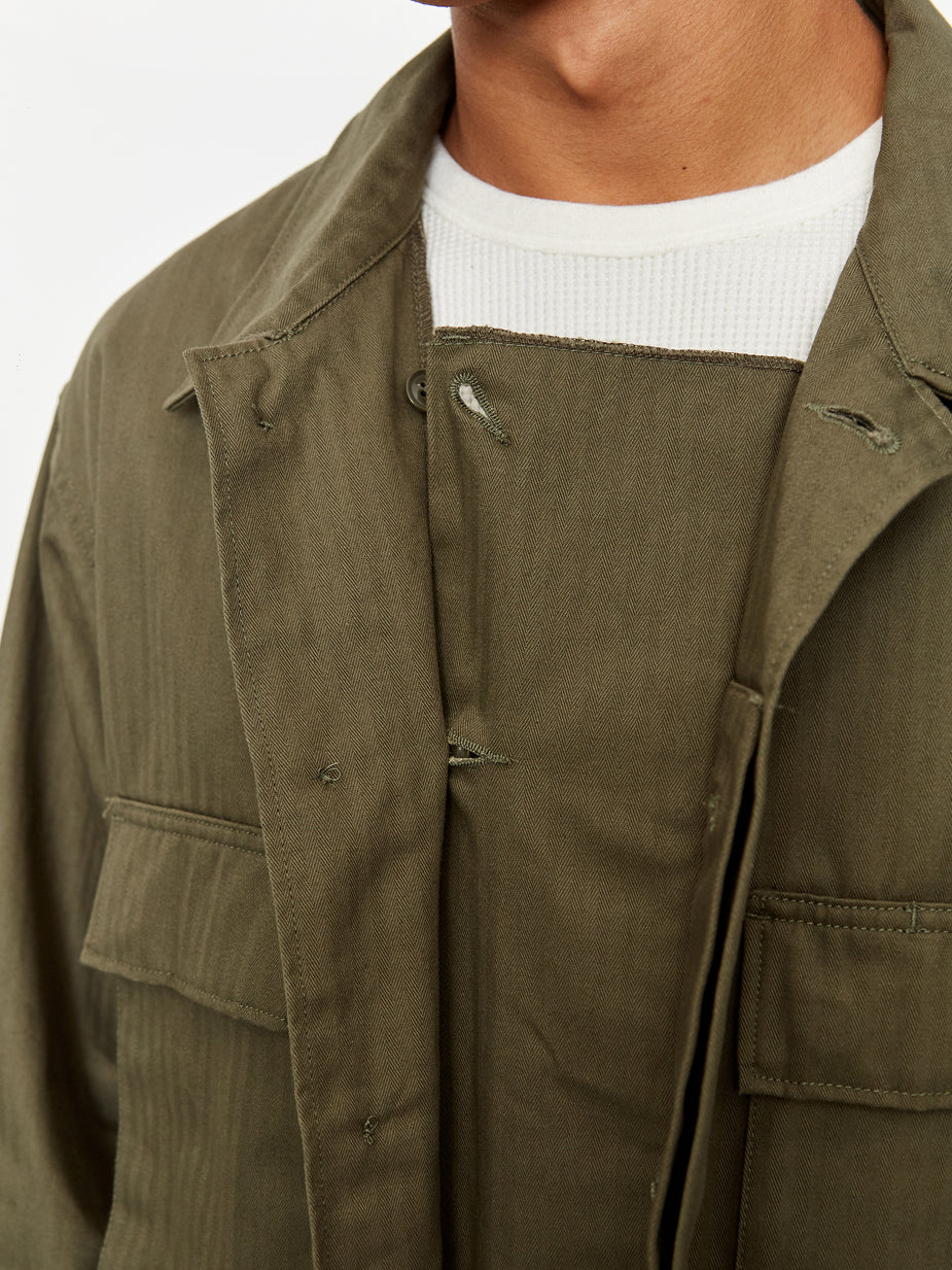 Engineered Garments Engineered Garments BDU Jacket - Olive Herringbone Twill - Green