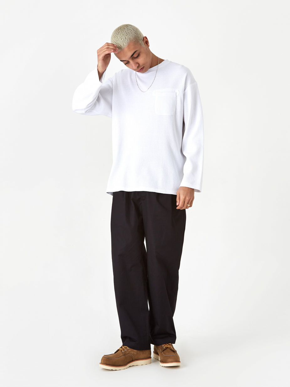 Engineered Garments Engineered Garments Longsleeve Thermal Crewneck T-Shirt - White - White