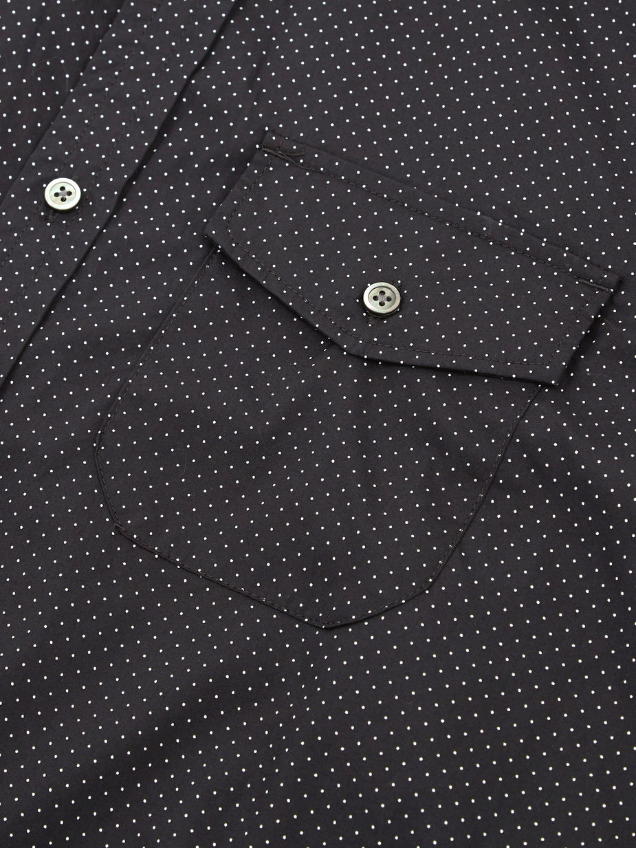 Engineered Garments Engineered Garments Tab Collar Shirt - Black/White Micro Polka Dot - Black