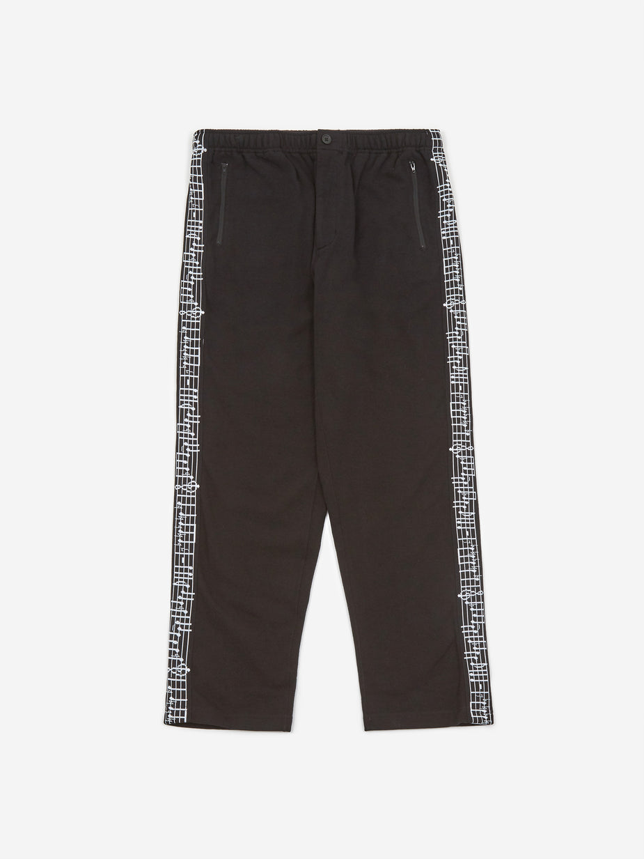 Engineered Garments Engineered Garments Taped Jogger - Black Cotton Fleece - Black