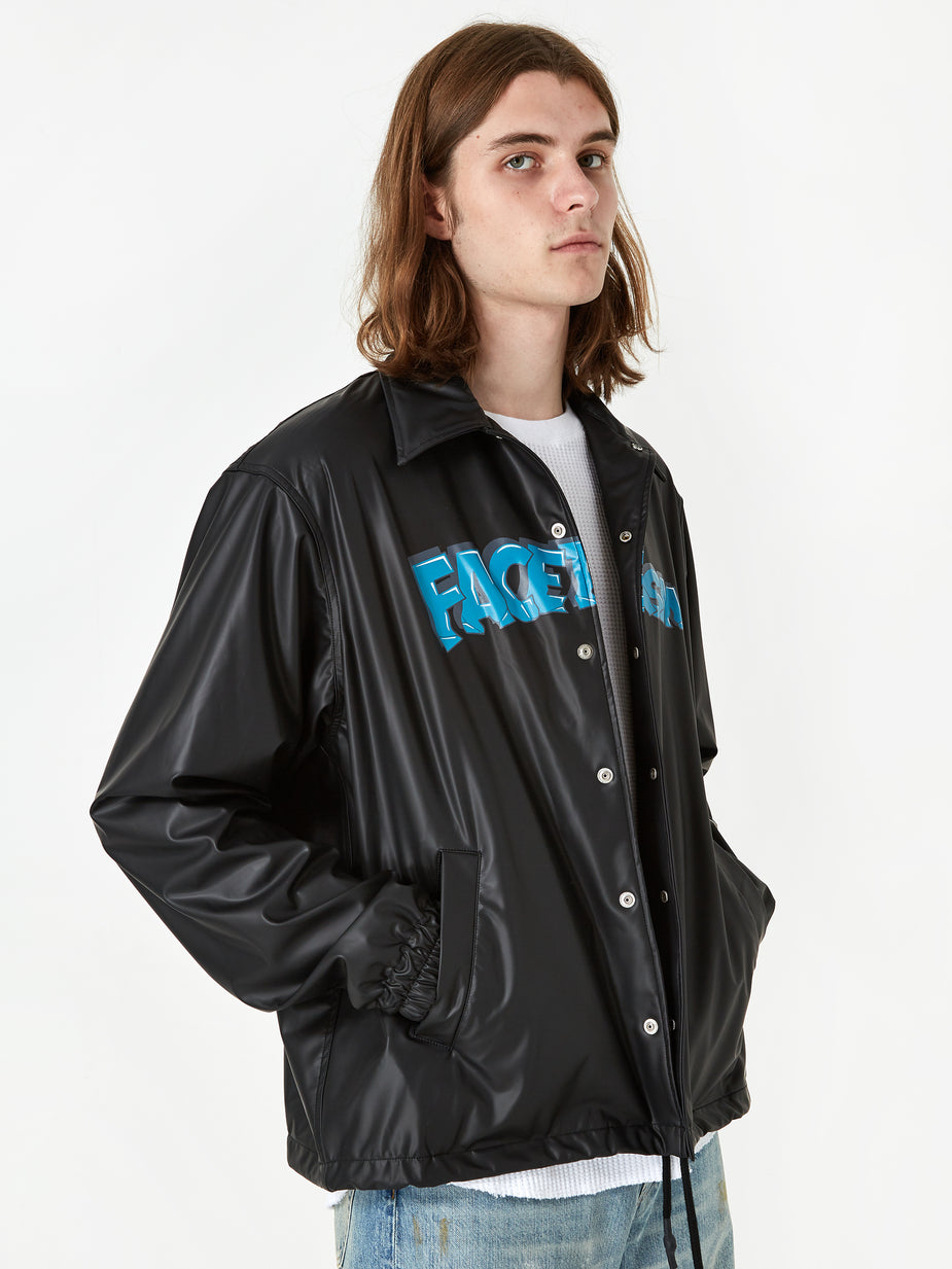 Facetasm Facetasm Coach Jacket - Black - Black