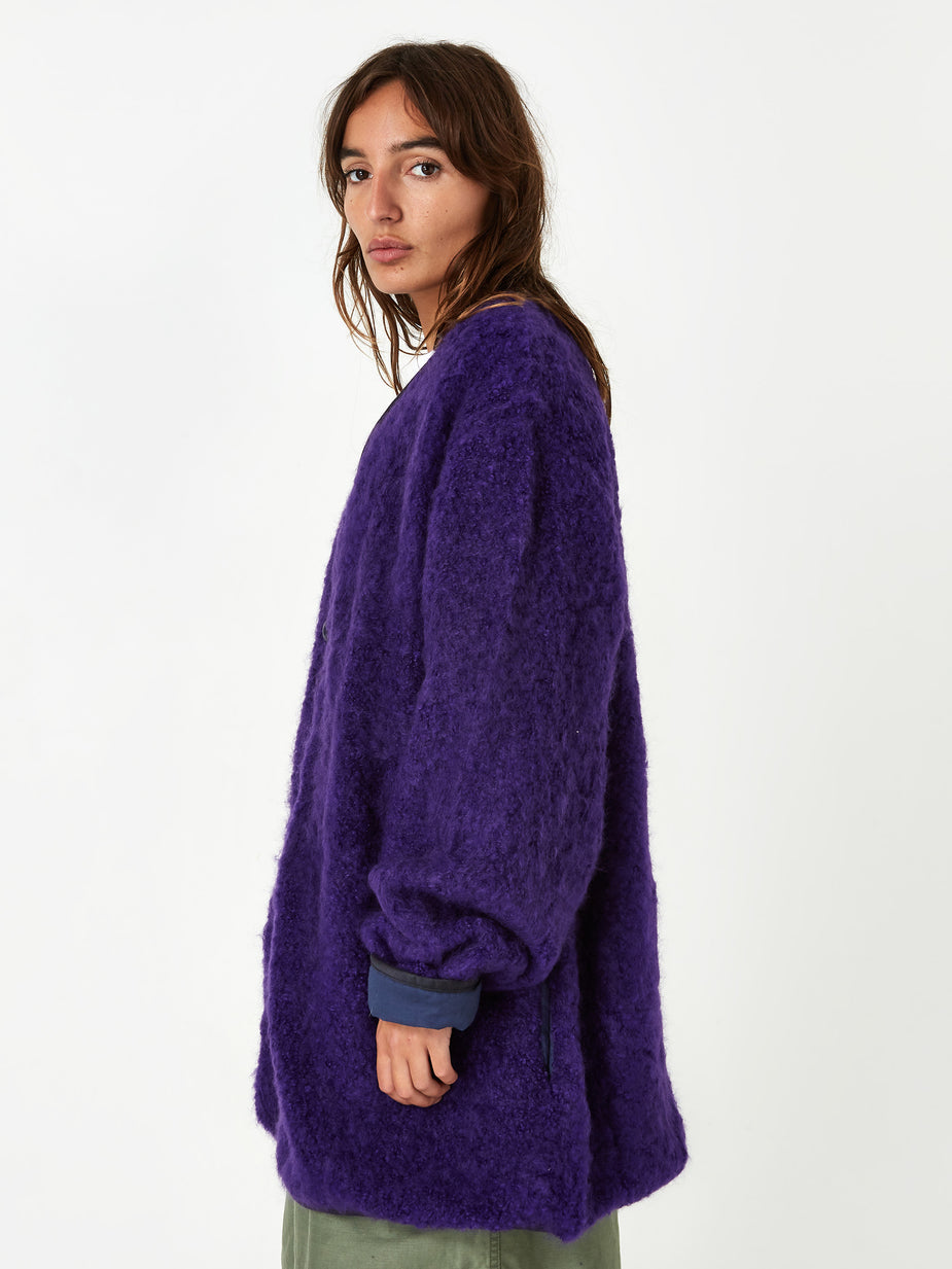 Facetasm Facetasm Fleece Fur Jacket - Purple - Purple