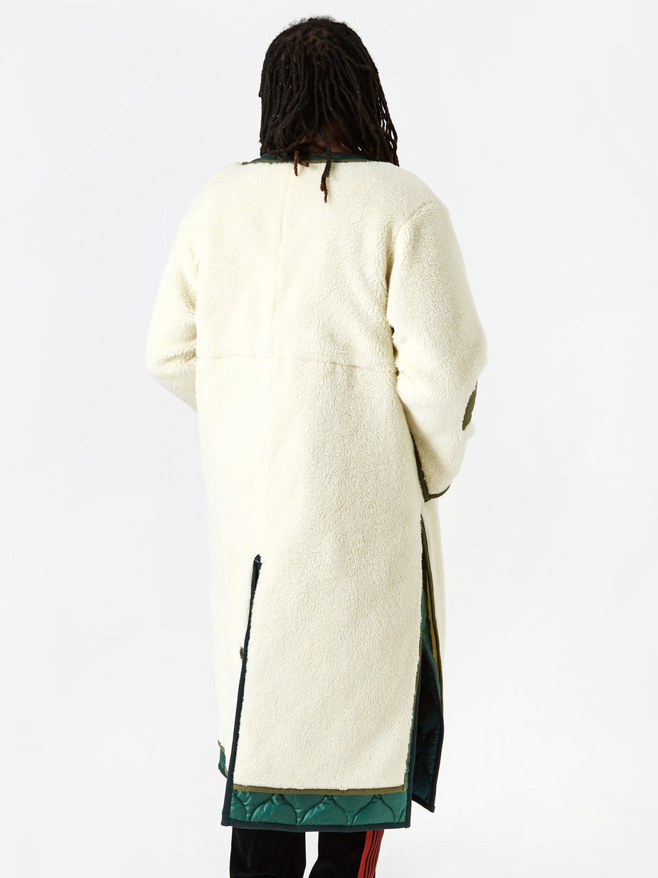 Facetasm Facetasm Fleece Liner Coat - White - White