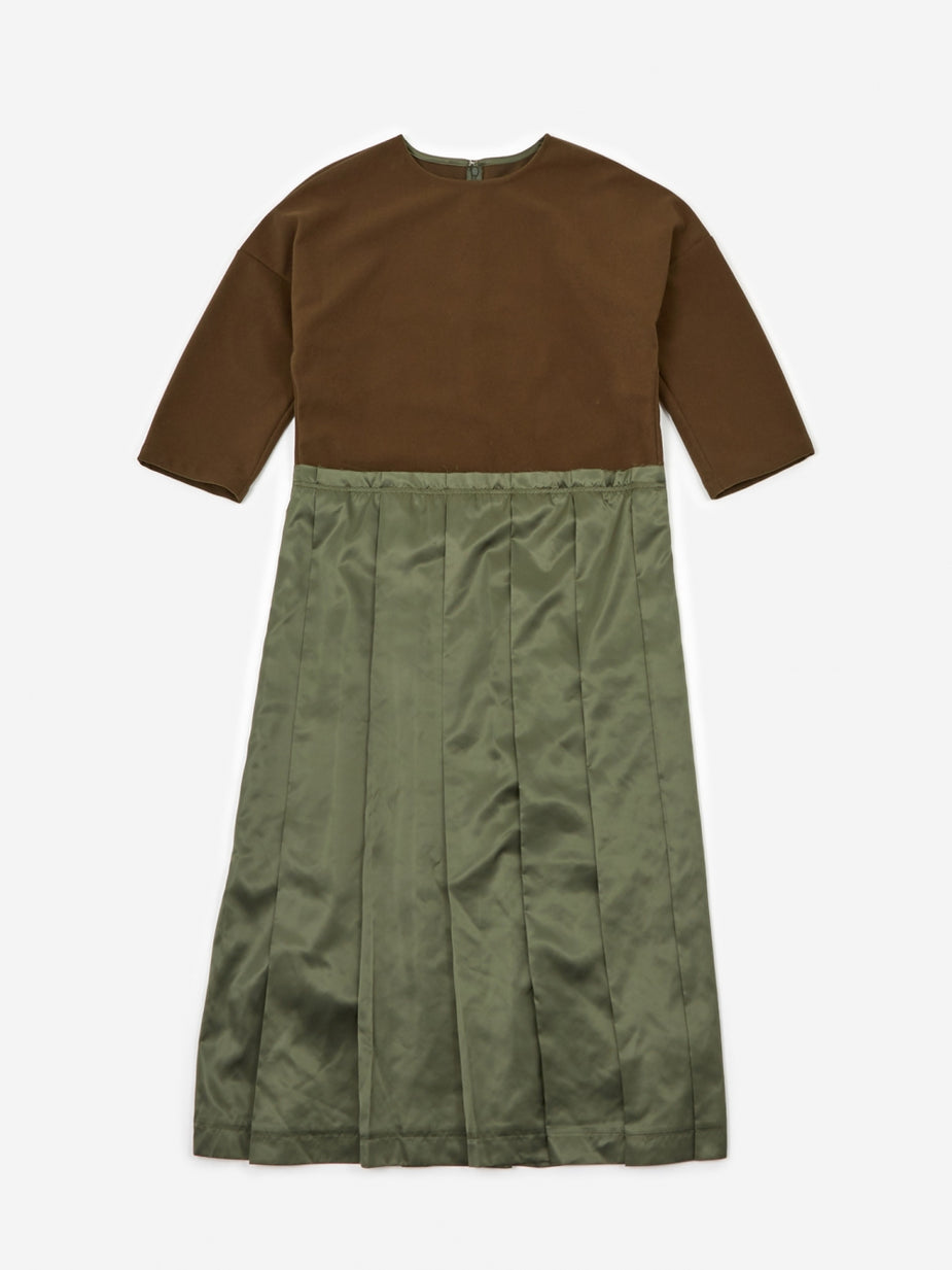 F/CE F/CE Switching One Piece Dress - Olive - Green
