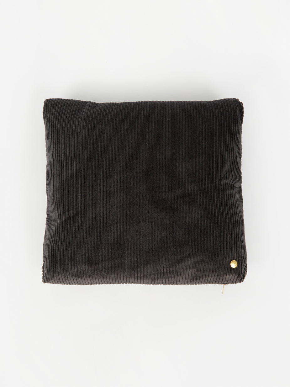 Ferm Living Ferm Living Corduroy Cushion 45 x 45 - Dark Grey - Grey