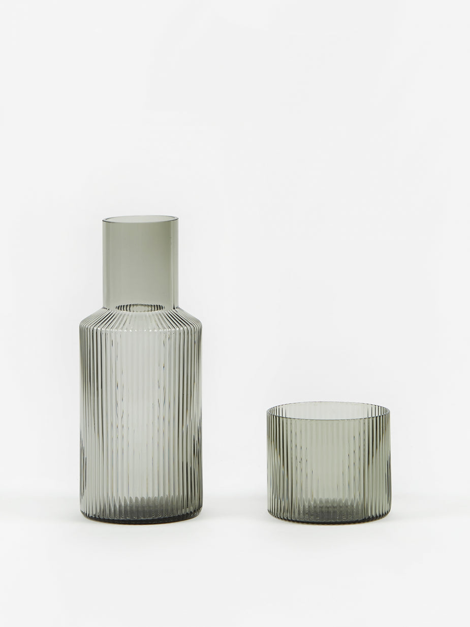 Ferm Living Ferm Living Ripple Small Carafe Set - Smoked Grey - Other