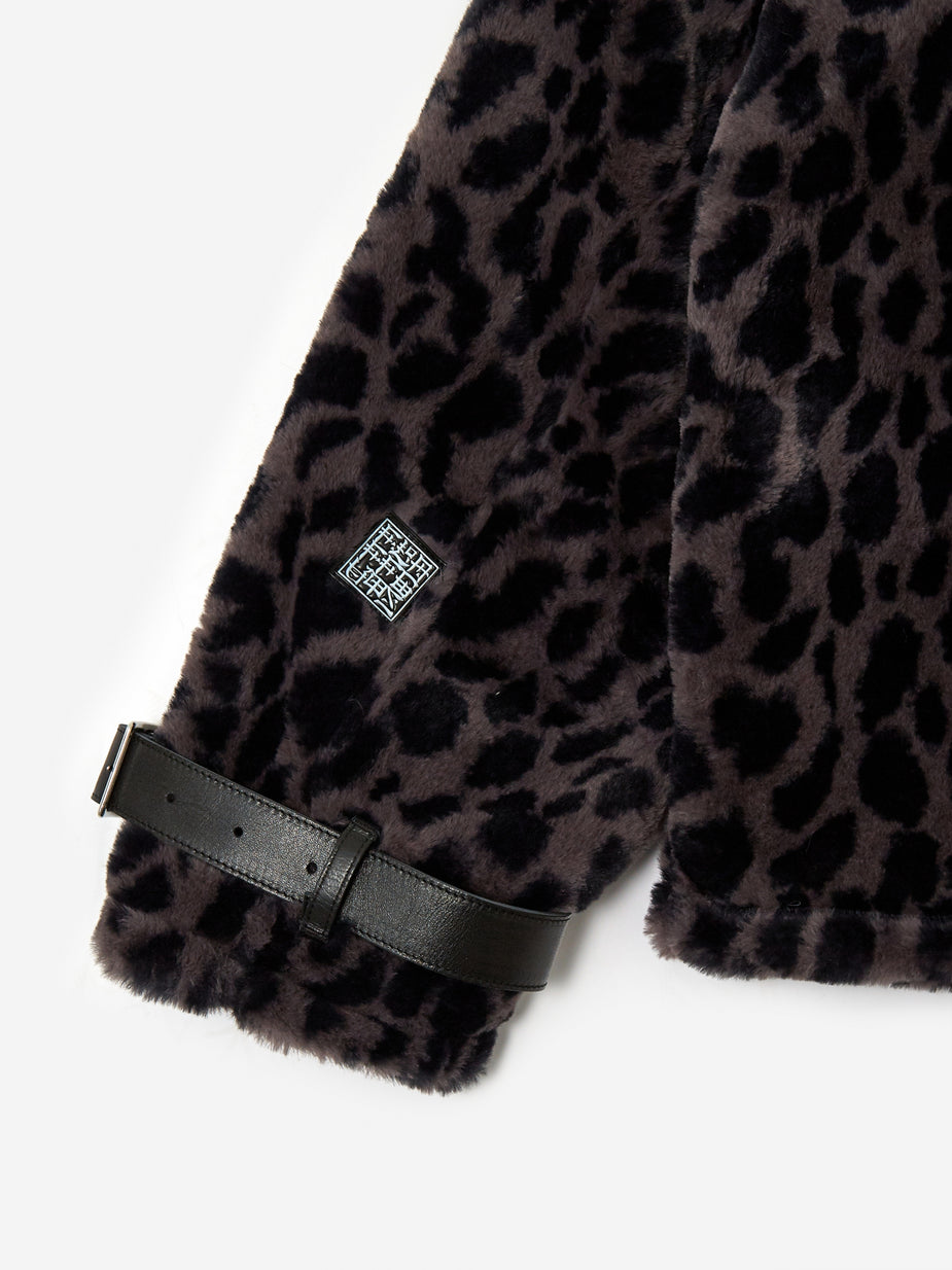 Flagstuff Flagstuff Fur B-3 Jacket - Leopard - Animal Print