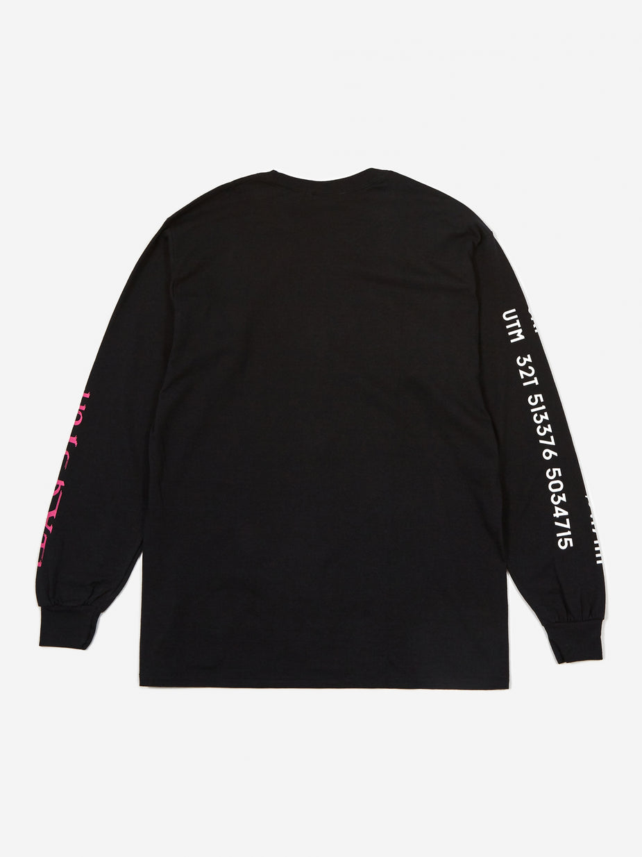 Flagstuff Flagstuff Supper Longsleeve T-Shirt - Black - Black