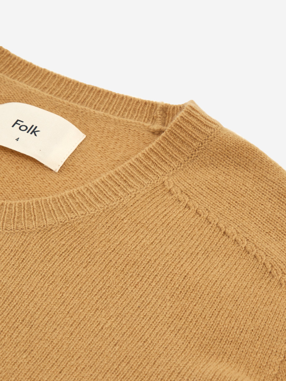 Folk Folk Patrice Crewneck Jumper - Light Gold - Brown