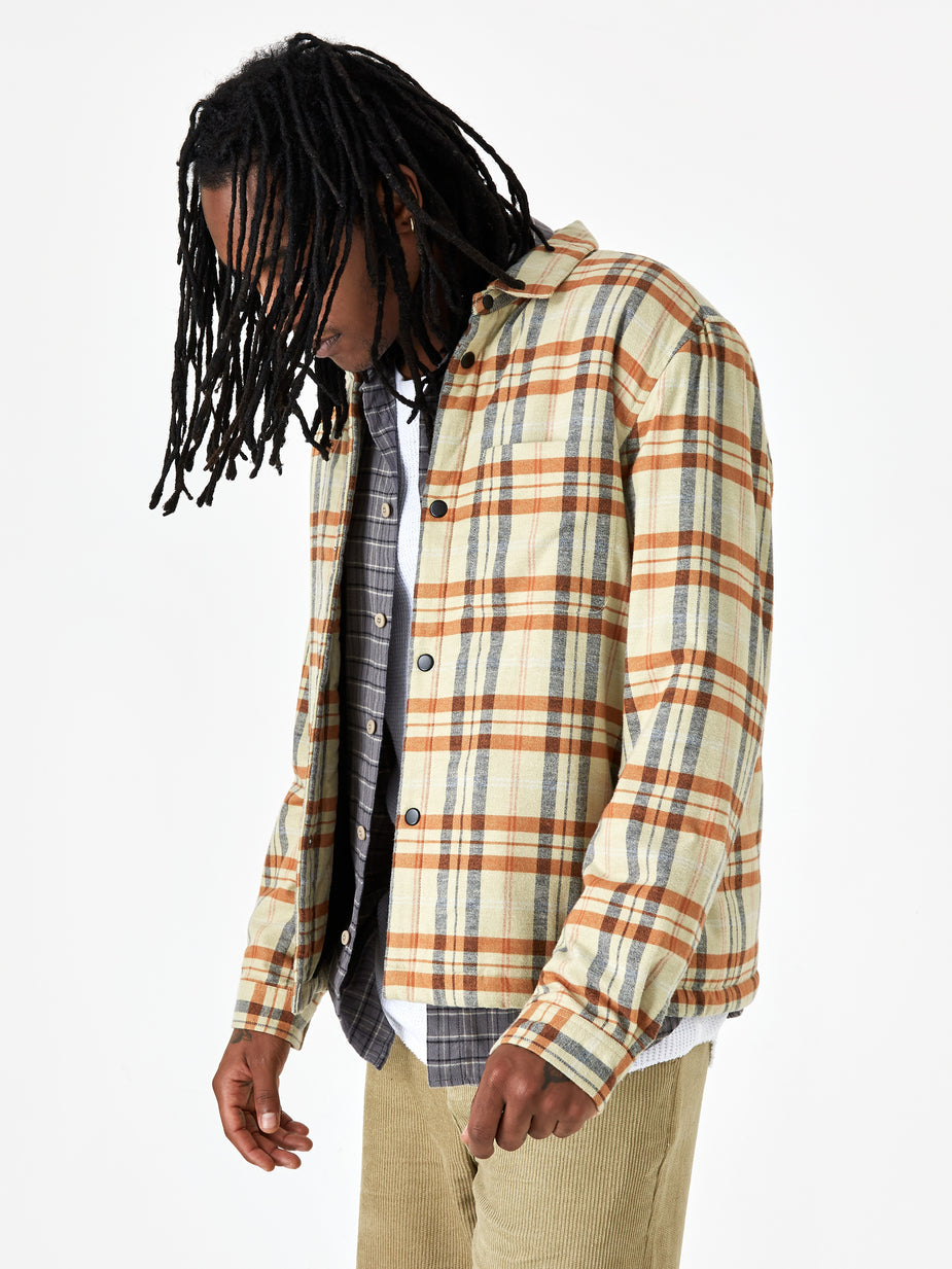 Folk Folk Wadded Check Jacket - Fawn Multi Check - Multi