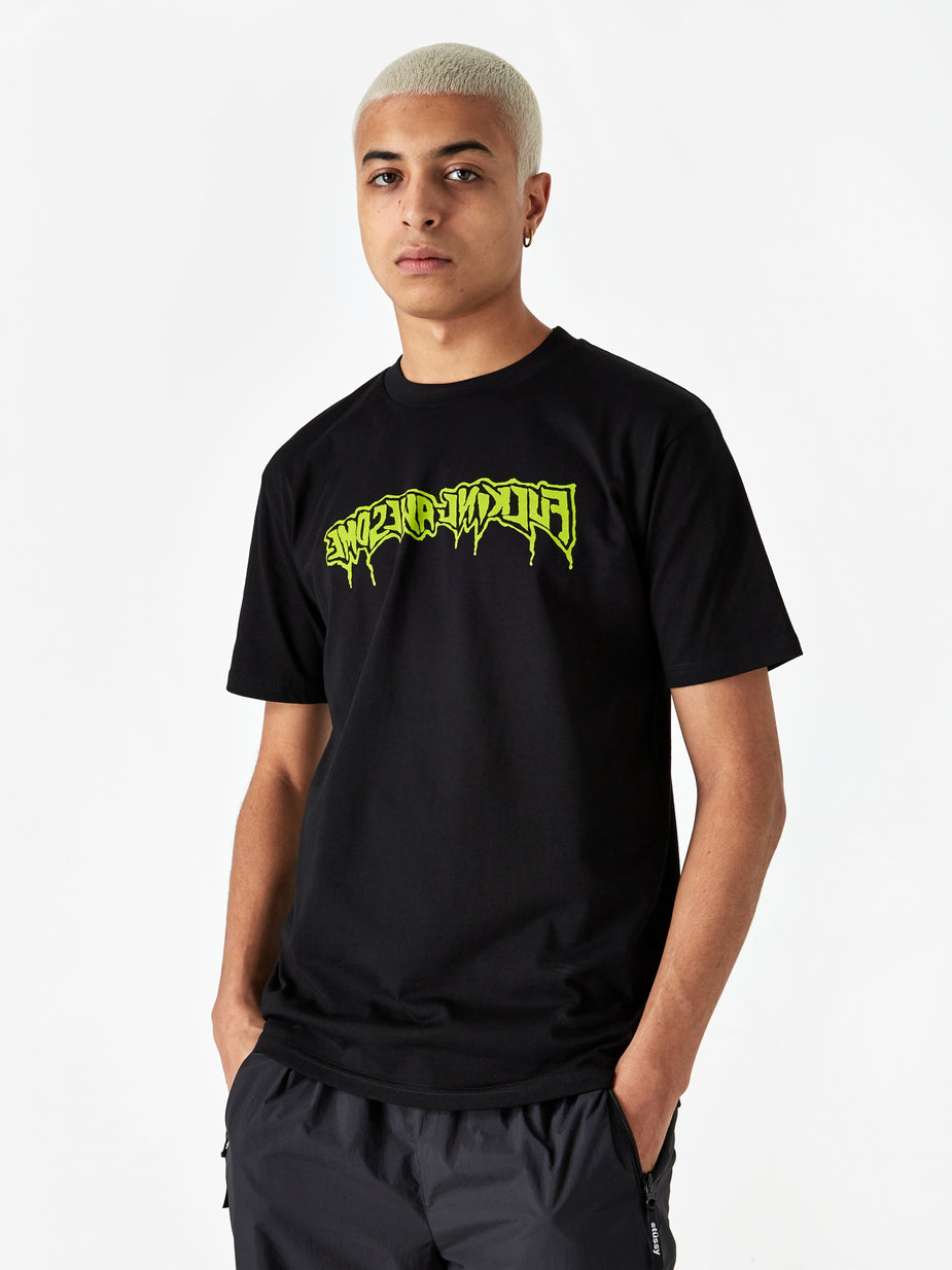 Fucking Awesome Fucking Awesome Drip Stamp Shortsleeve T-Shirt - Black - Black