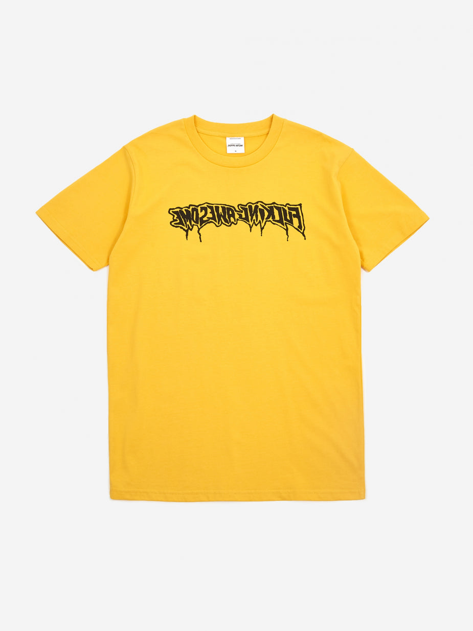 Fucking Awesome Fucking Awesome Drip Stamp Shortsleeve T-Shirt - Gold - Gold