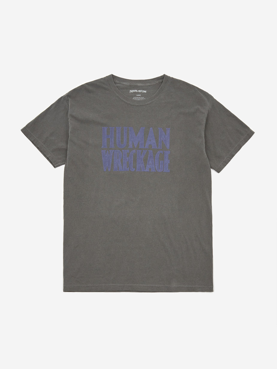 Fucking Awesome Fucking Awesome Human Wreckage Shortsleeve T-Shirt - Pigment Dyed Pepper - Black