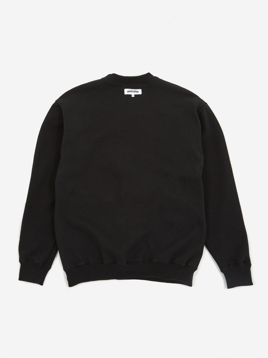Fucking Awesome Fucking Awesome Reversible Empty Drip Crewneck Sweatshirt - Black - Black