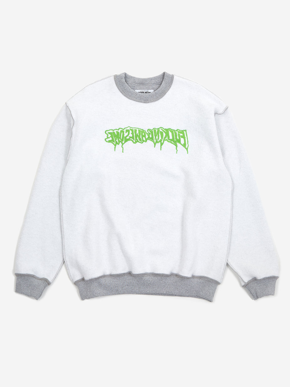Fucking Awesome Fucking Awesome Reversible Empty Drip Crewneck Sweatshirt - Heather Grey - Grey
