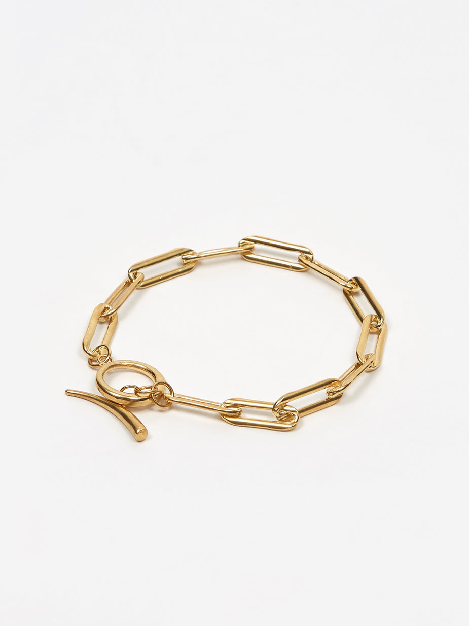 Gabriela Artigas Gabriela Artigas Rectangle Link Chain Bracelet With Tusk Clasp - Gold Filled - Gold
