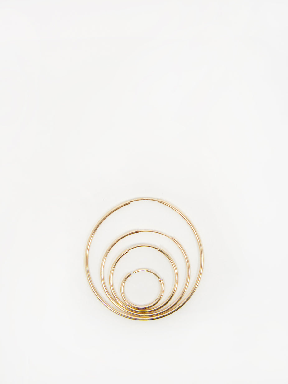 Gabriela Artigas Gabriela Artigas 4 Set Hoop Earrings - Gold - Gold