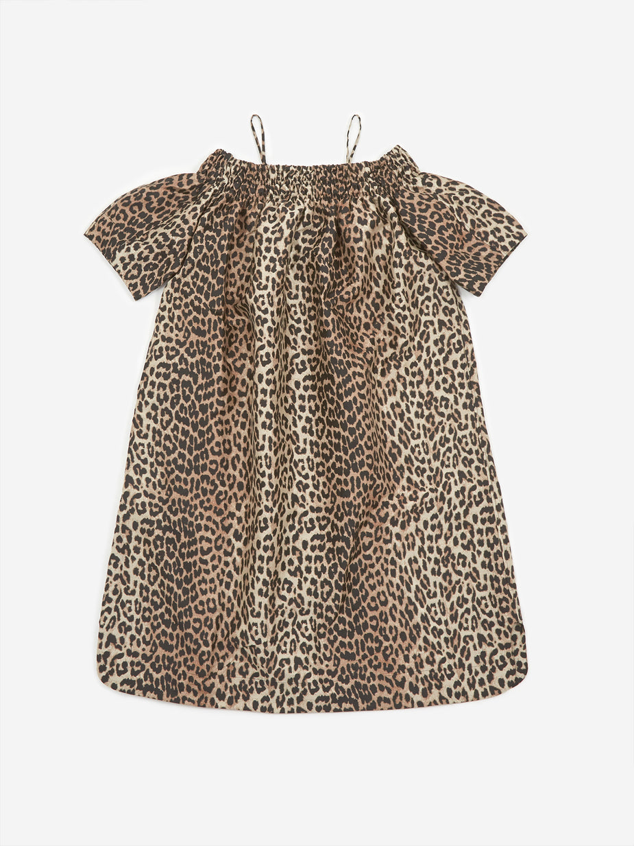 Ganni Ganni Crispy Jacquard Dress - Phantom - Animal Print