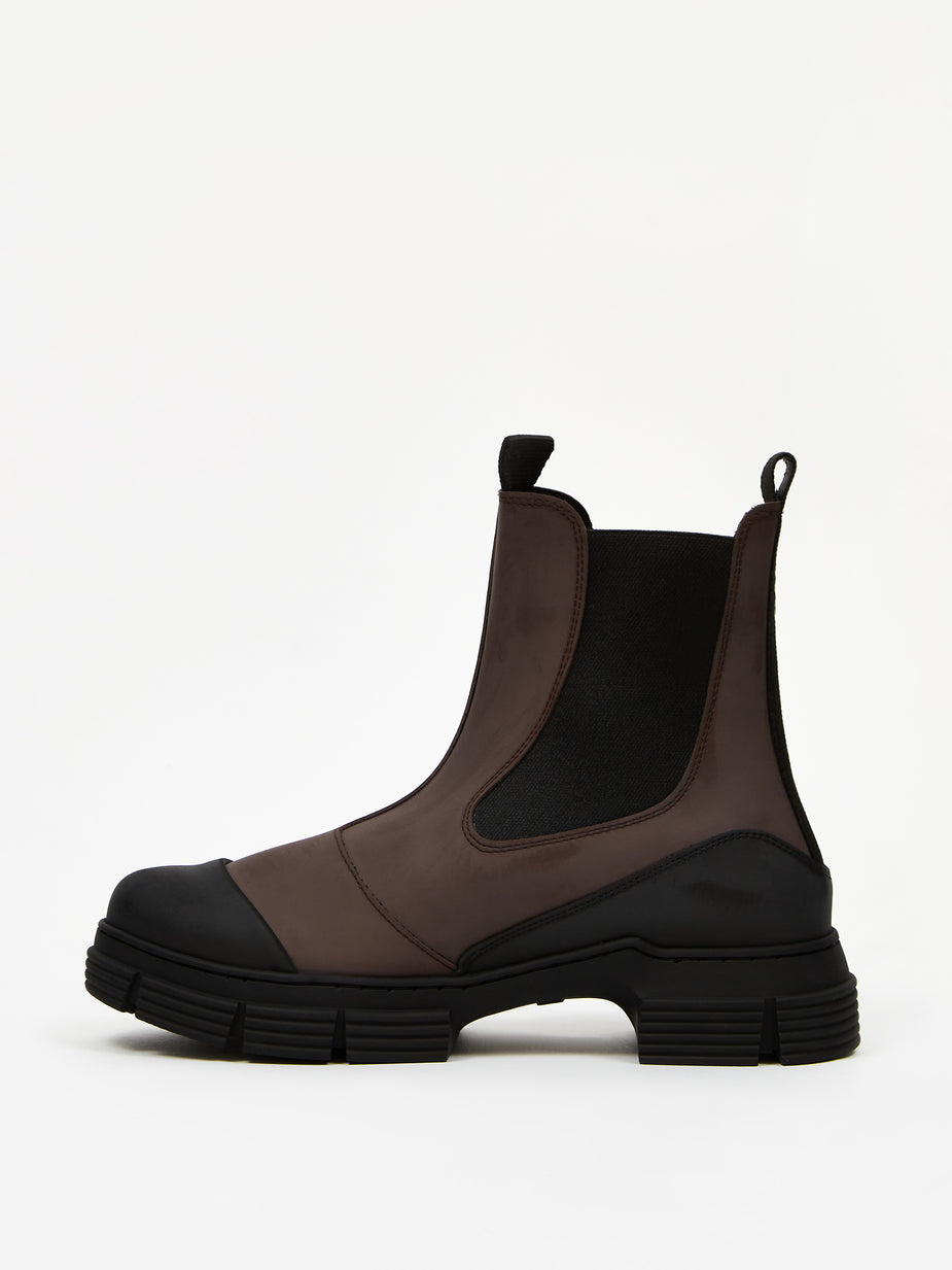 Ganni Ganni Recycled Rubber Boot - Chicory Coffee - Brown