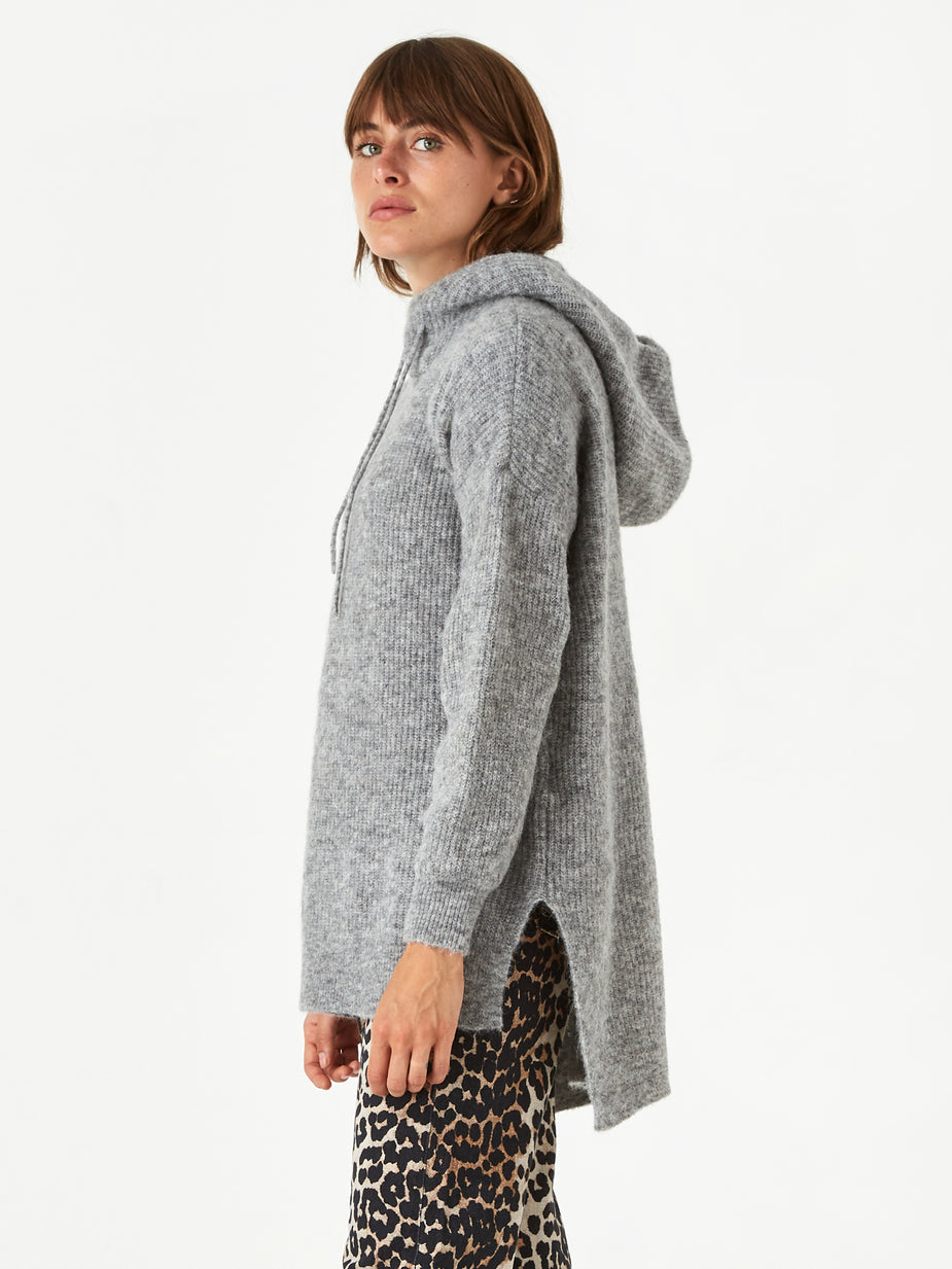 Ganni Ganni Soft Wool Knit Hoodie - Paloma Melange - Other