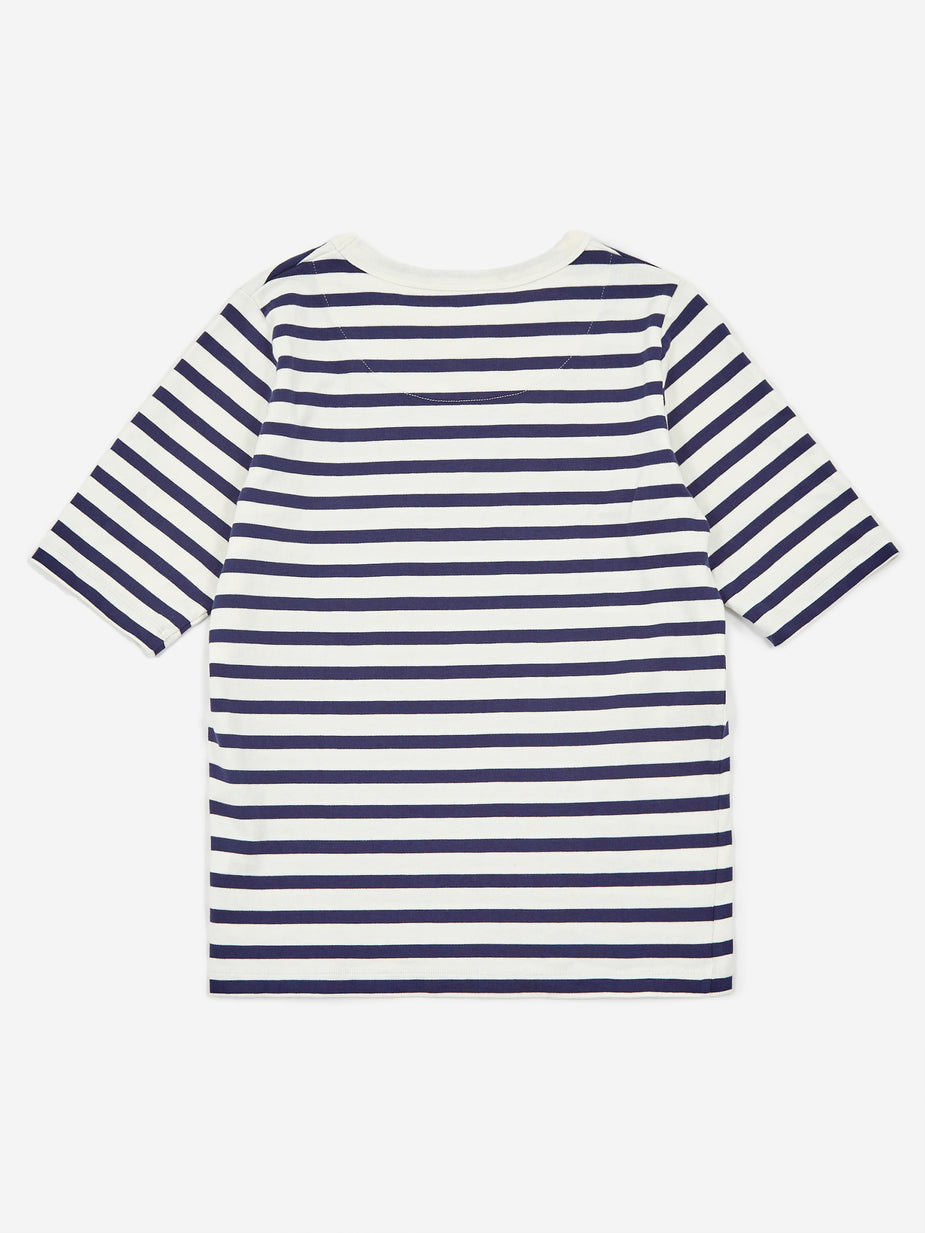 Girls Of Dust Girls Of Dust Sailor Cadet Stripe Sailor T-Shirt - White/Navy - White