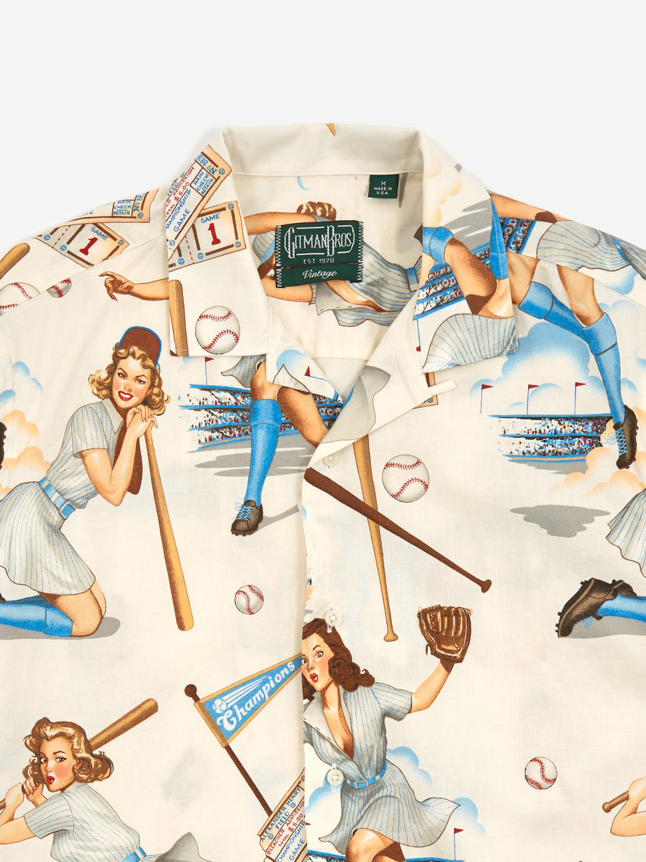 Gitman Vintage Gitman Vintage Camp Shortsleeve Shirt - Swingers - Multi