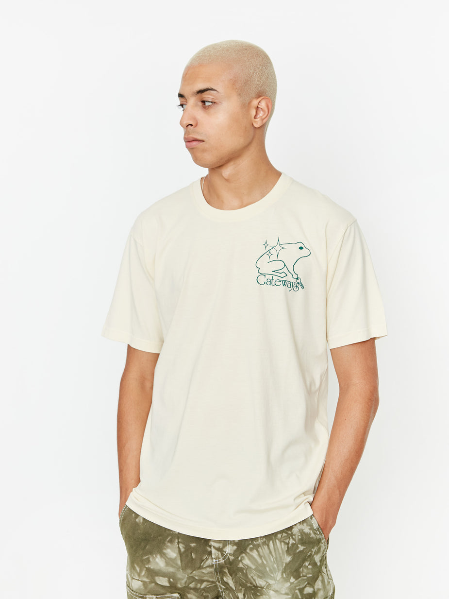 Good Morning Tapes Good Morning Gateways Shortsleeve T-Shirt - Natural - White
