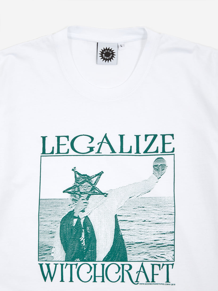Good Morning Tapes Good Morning Legalize Witchcraft Shortsleeve T-Shirt - White - White