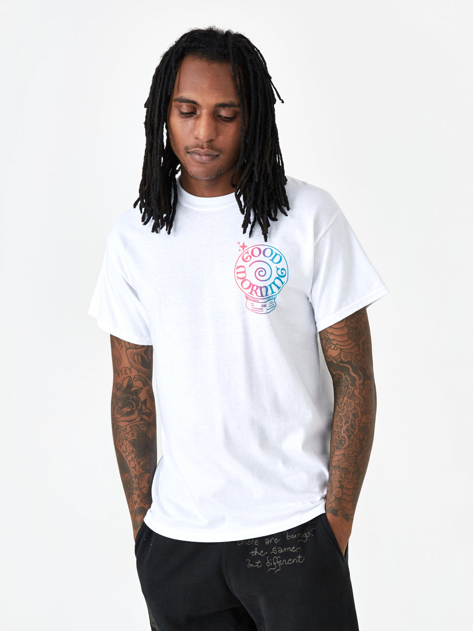 Good Morning Tapes Good Morning Tapes Panaceum Shortsleeve T-Shirt - White - White