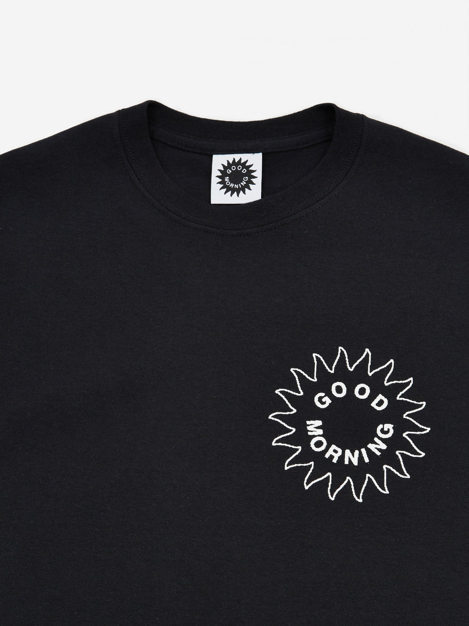Good Morning Tapes Good Morning Tapes Sun Logo Shortsleeve T-Shirt - Black - Black