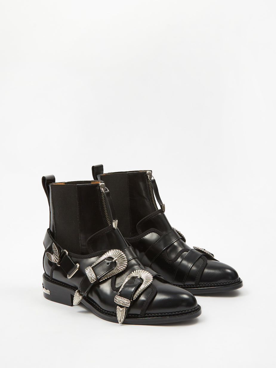 TOGA Toga Pulla Buckled Boot - Black - Black