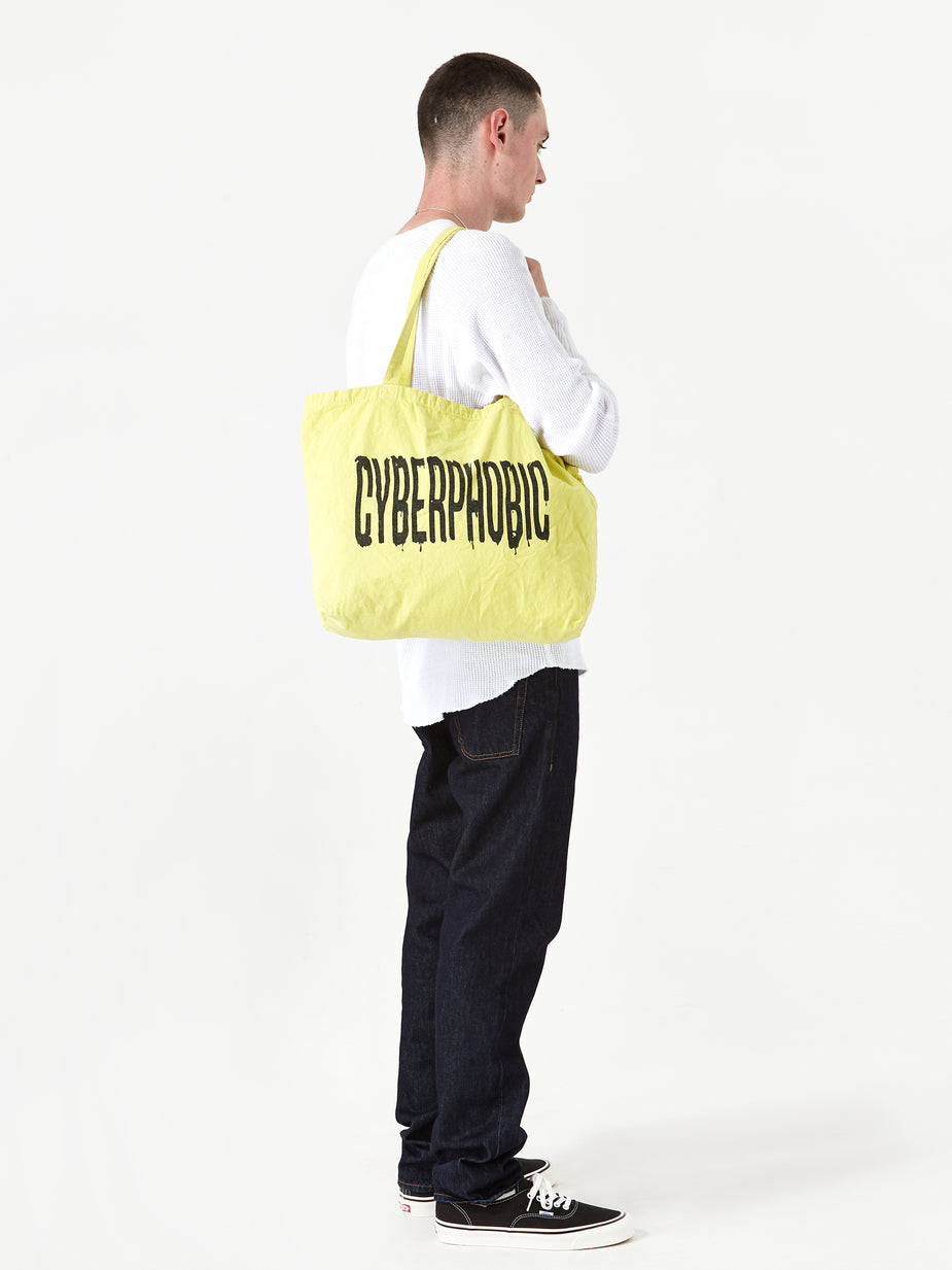 Goods By Goodhood Goods by Goodhood Cyberphobic Tote Bag - Lime - Green