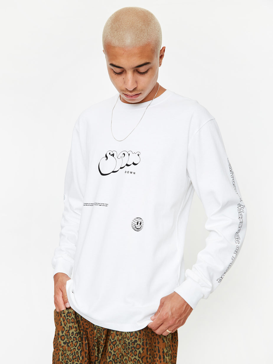 Goods By Goodhood Goods by Goodhood LS Slow Tee - White - White